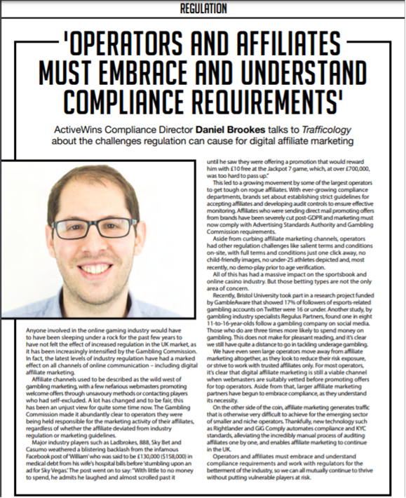 Operators and Affiliates Must Embrace and Understand Compliance Requirements