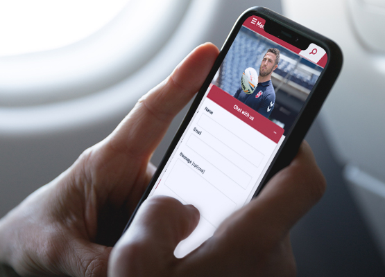 Wigan Warriors live chat on mobile.