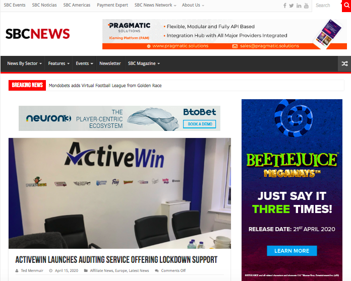 ActiveWin marketing support service featured in SBC News